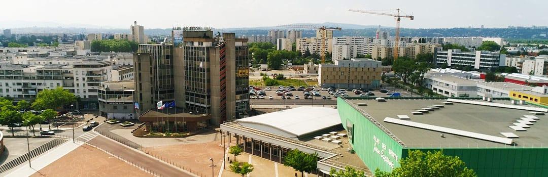Hôtel de ville (vue aérienne)