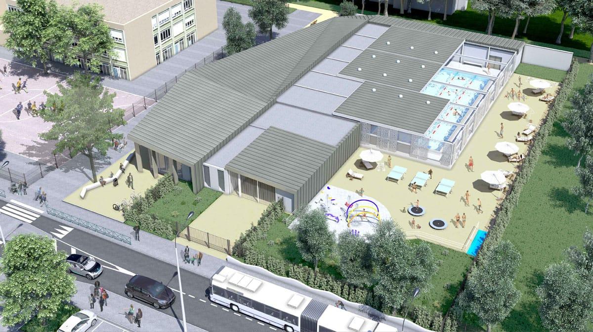 Piscine Jan Gelet - plan d'architecte