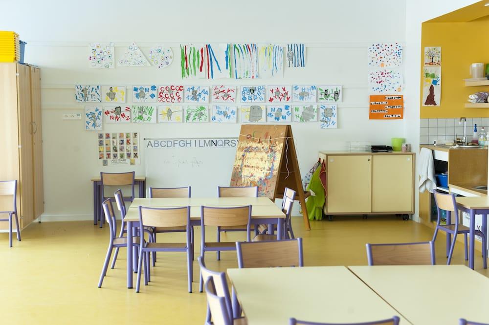 Salle de classe de l'école René Beauverie