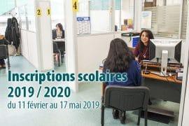 Bandeau Inscriptions scolaires 2019/2020
