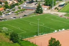 Terrain de football du stade Jomard (vue aérienne)