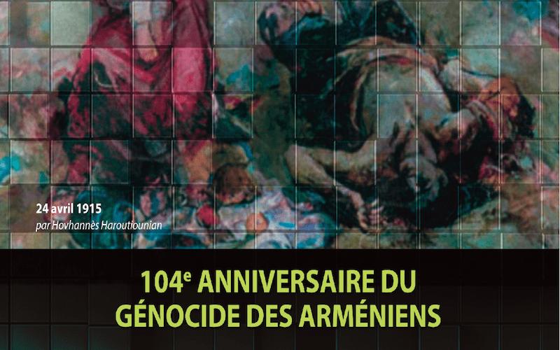 Affiche commémoration du génocide des Arméniens