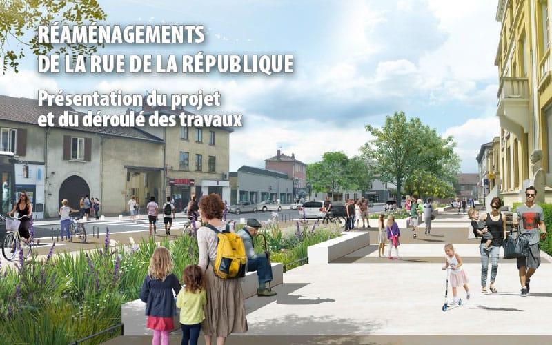 Bandeau réaménagement de la rue de la République