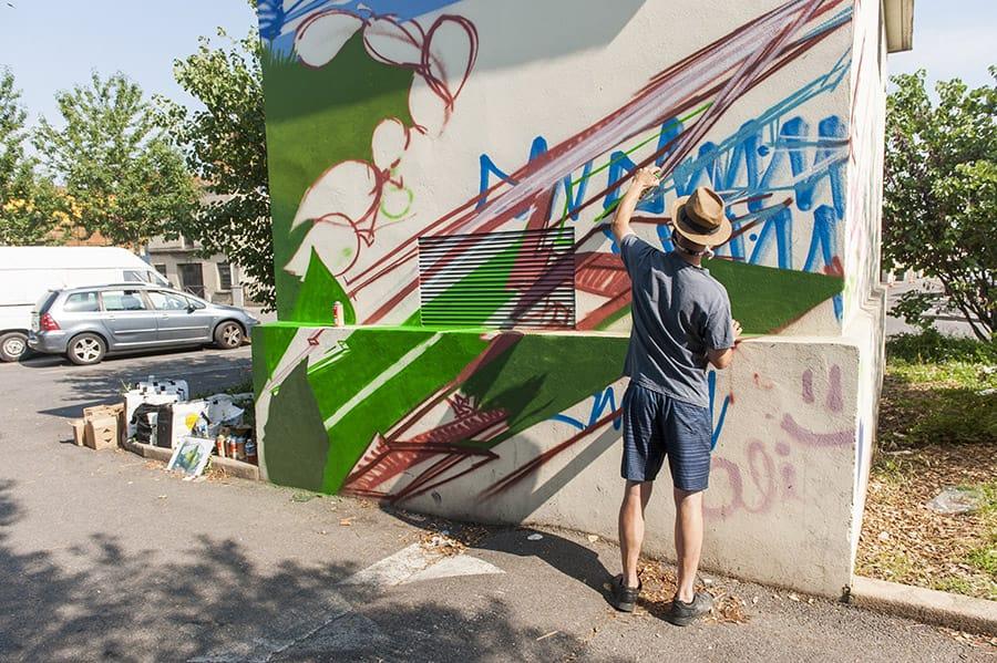 Street art rue Tita Coïs - chantier jeunes du 8 au 12 juillet 2019