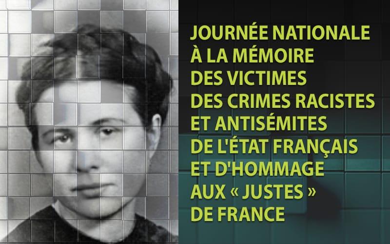 Dimanche 21 juillet 2019, Journée nationale à la mémoire des victimes des crimes racistes et antisémites de l'État français et d'hommage aux Justes de France