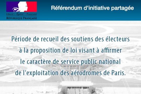 Référendum d'initiative partagée - Aérodromes de Paris