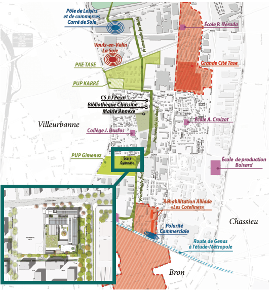 Plan de situation de l'école Katherine Johnson