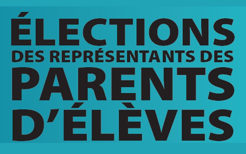 Vendredi 11 octobre 2019 – Élections des représentants des parents d'élèves