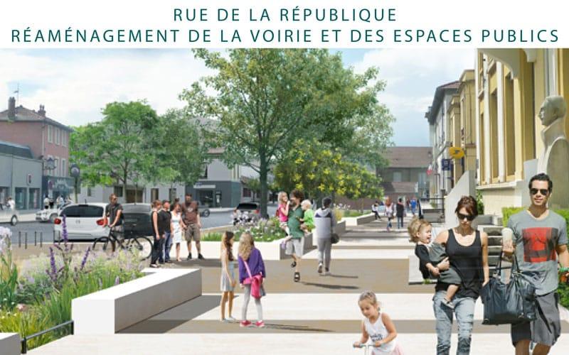 Rue de la République : réaménagement de la voirie et des espaces publics