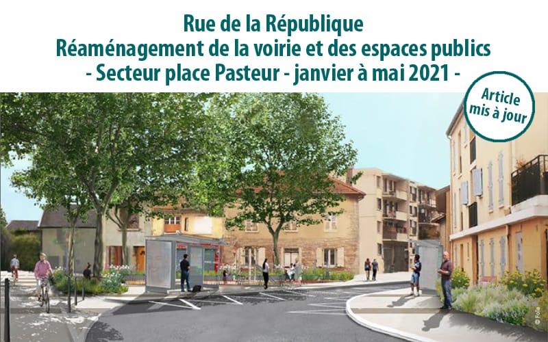Rue de la Républiqueréaménagement de la voirie & des espaces publics