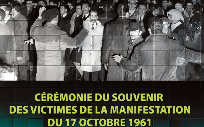 Cérémonie du souvenir des victimes de la manifestation du 17 octobre 1961