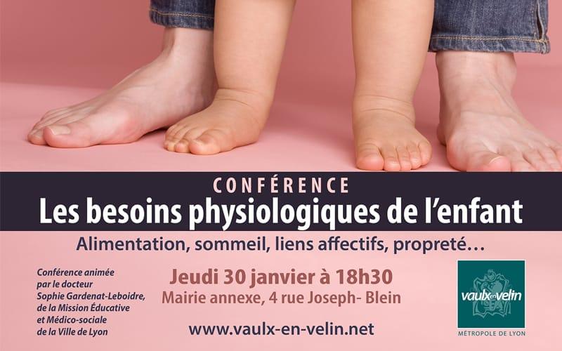 Conférence Les besoins physiologiques de l'enfant