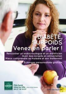 Visuel - Diabète surpoids venez en parler