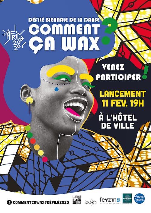 Affiche - Défilé - Biennale de la danse - Comment ça wax ?