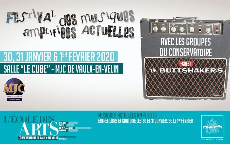 Festival des Musiques Actuelles Amplifiées MAA 2020 École des Arts
