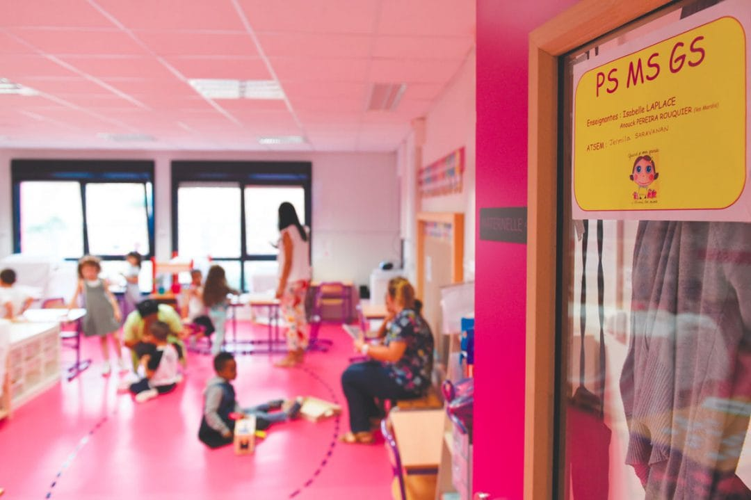 Rentrée des classes - École Odette Cartailhac transitoire - septembre 2019 - photographie Thierry Chassepoux
