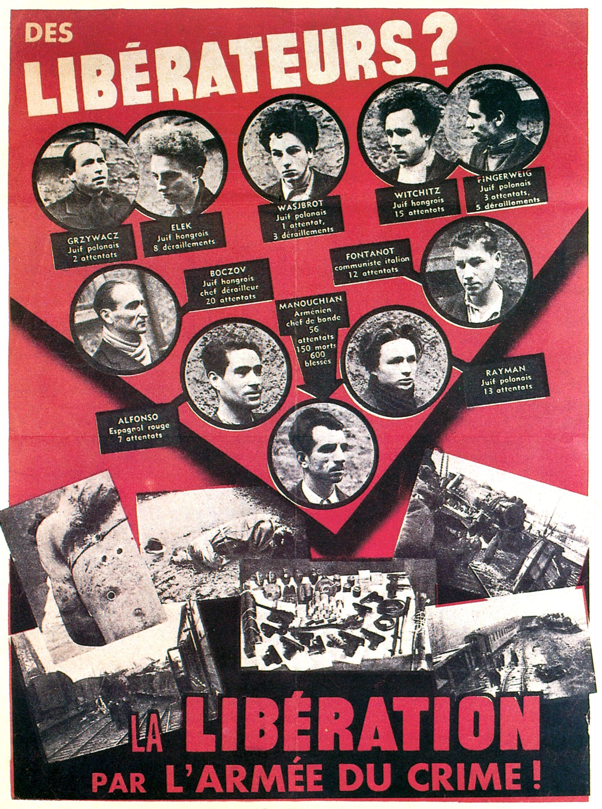 Cérémonie en hommage au groupe Manouchian (Affiche rouge)