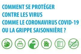 Visuel - Gestes sanitaires coronavirus et grippe