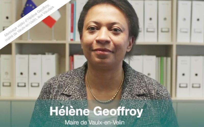 Message vidéo aux Vaudais d'Hélène Geoffroy, maire de Vaulx-en-Velin