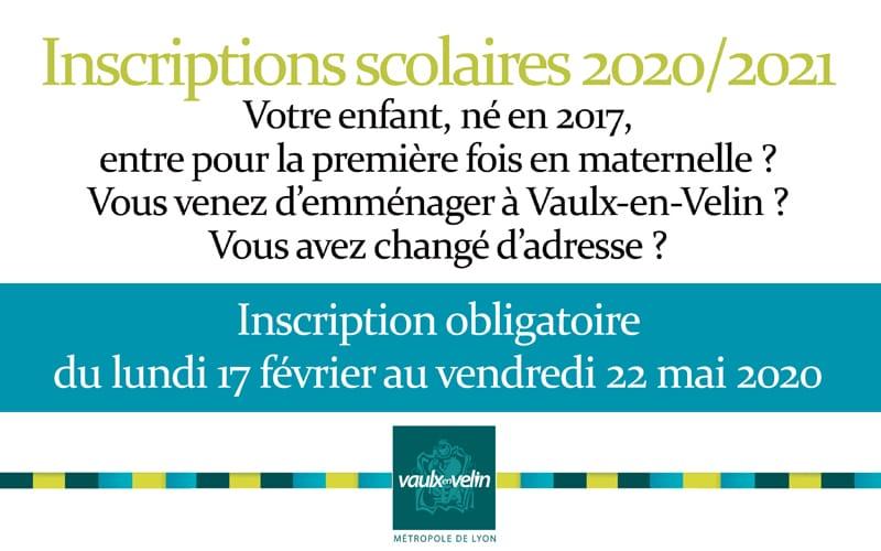 ReportéInscriptions scolaires 2020-2021 : du 17 février au 22 mai 2020