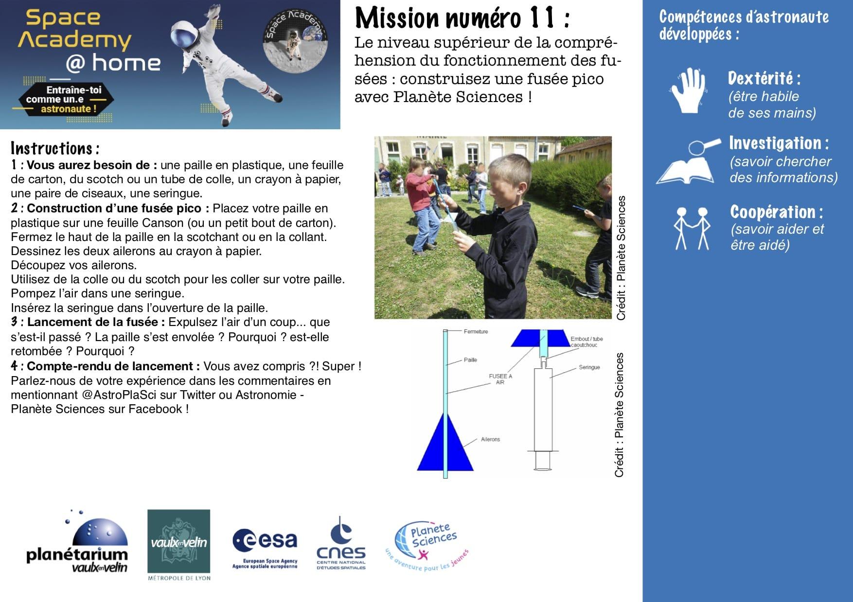 Missions du Planétarium 11 à 15