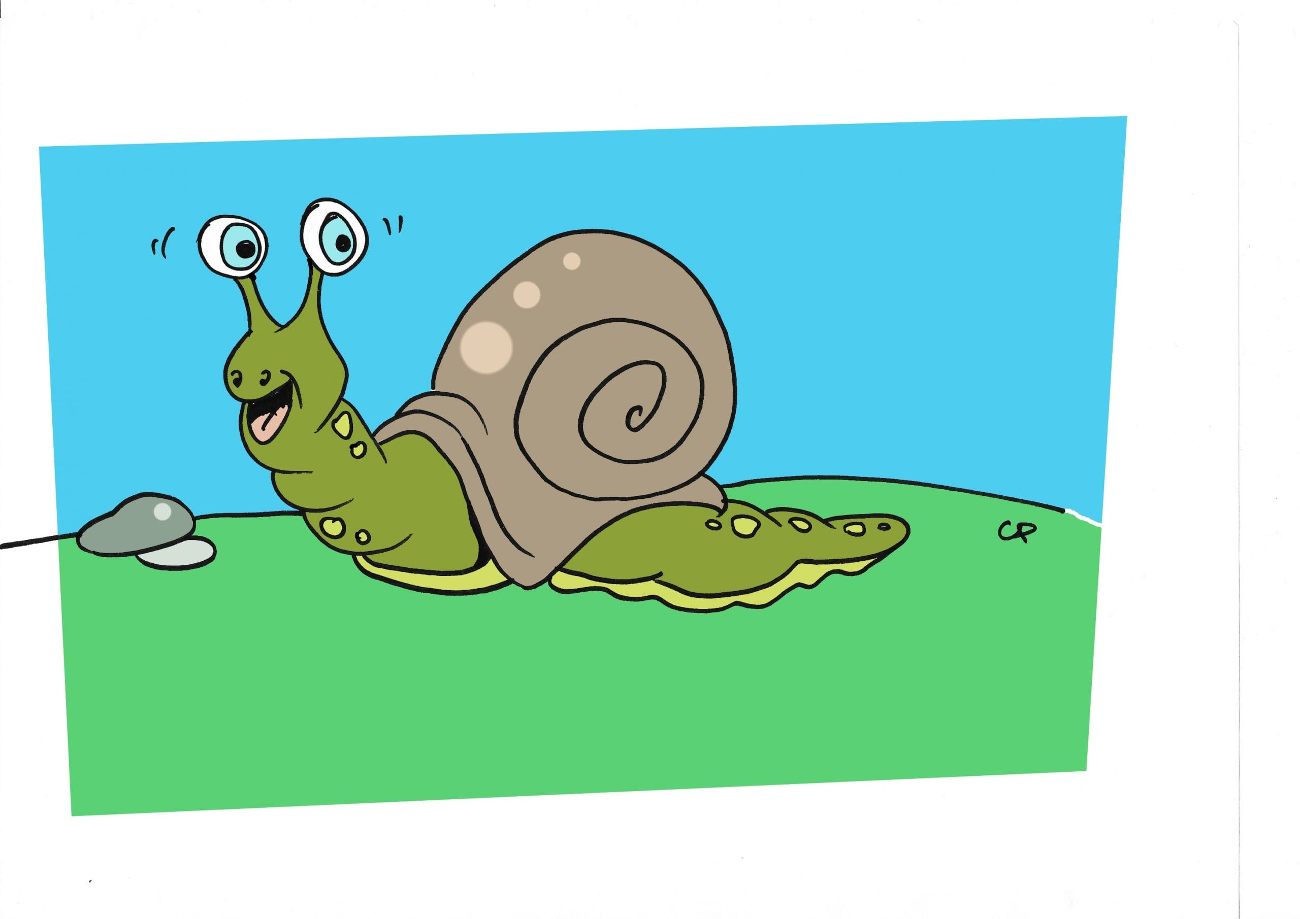 escargot coloriage