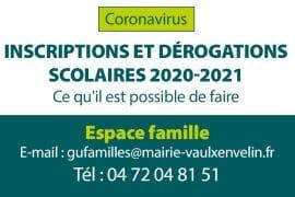 inscriptions scolaires et derogations 2020 2021