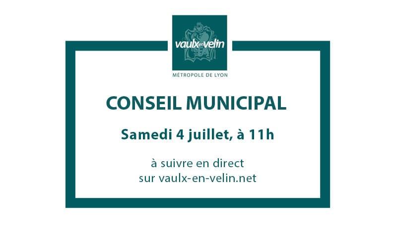 Conseil Municipalsamedi 4 juillet 2020, à 11hen direct