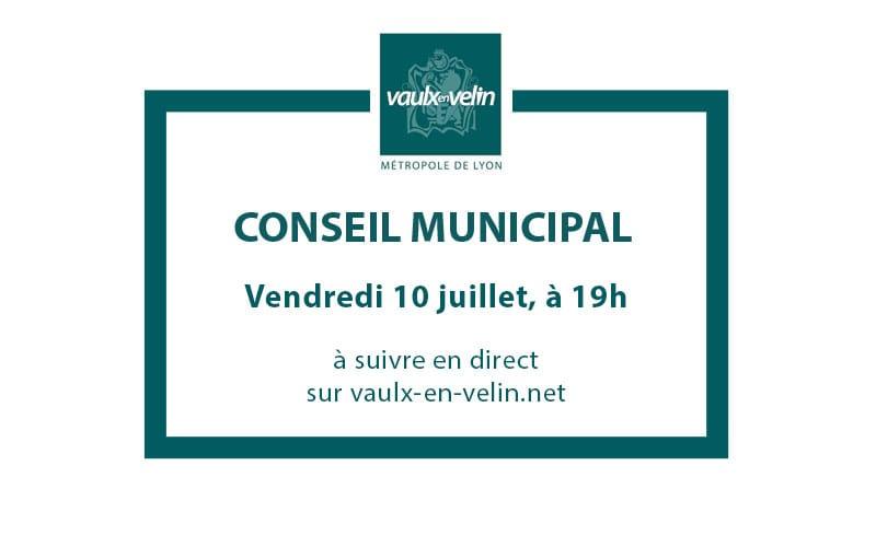 Conseil Municipalvendredi 10 juillet 2020, à 19hen direct