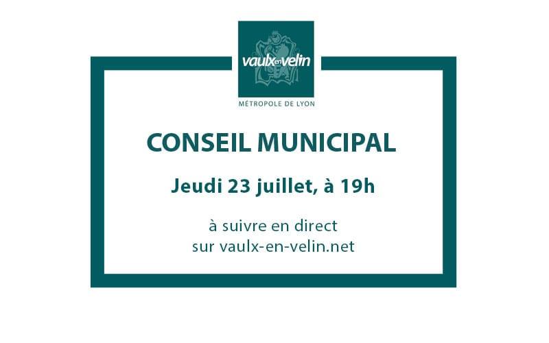 Conseil Municipaljeudi 23 juillet 2020, à 19hen direct