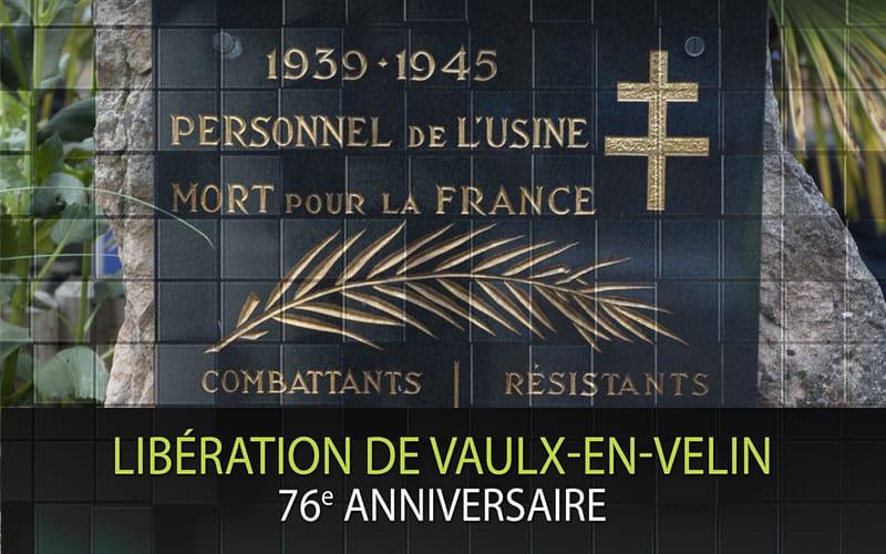 Cérémonie de commémoration - 76ème anniversaire de la Libération de Vaulx-en-Velin