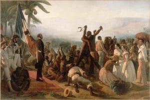 L'abolition de l'esclavage dans les colonies françaises de François-Auguste Biard