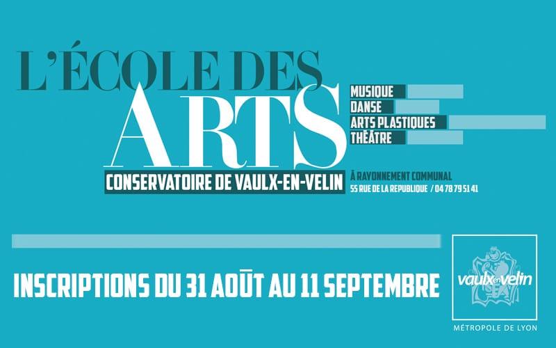 École des arts inscriptions du 31 août au 11 septembre 2020