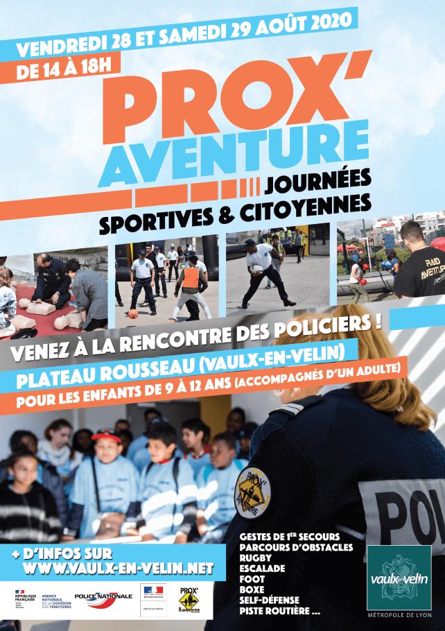 affiche pour les journées Prox'aventure 2020