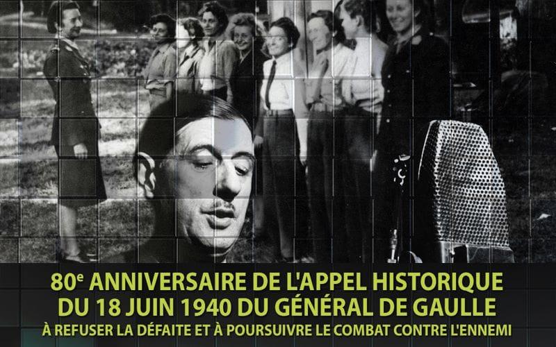 80e anniversaire de l'appel historique du 18 juin 1940 du Général de Gaulle
