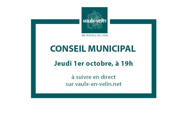 Conseil Municipaljeudi 1er octobre 2020, à 19hen direct