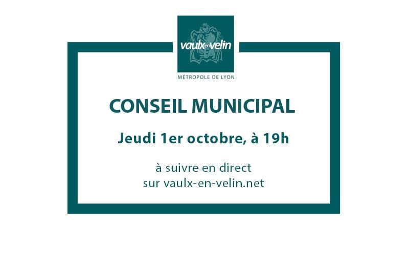 Conseil Municipaljeudi 1er octobre 2020, à 19hen direct