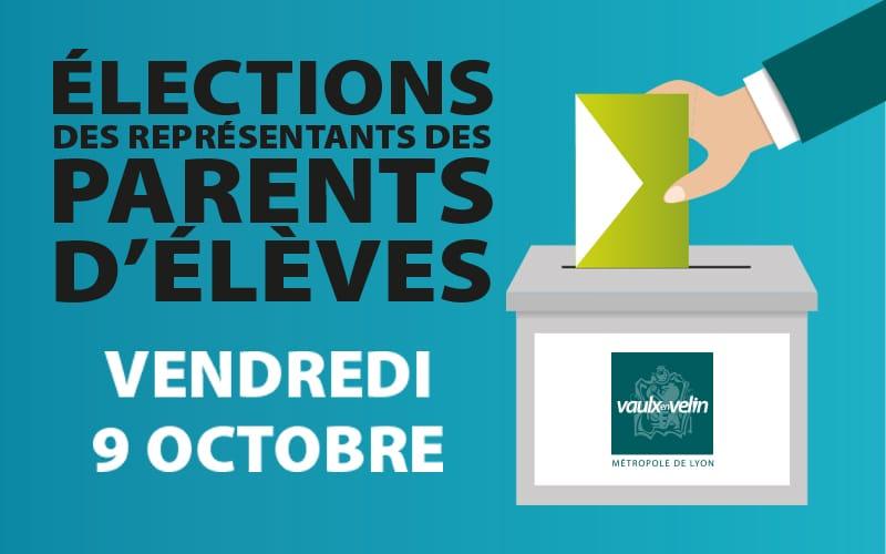 Élections des représentants des parents d'élèves  vendredi 9 octobre 2020