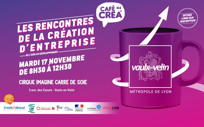Annulé Café Créa – Participez aux Rencontres de la Création d'Entreprise