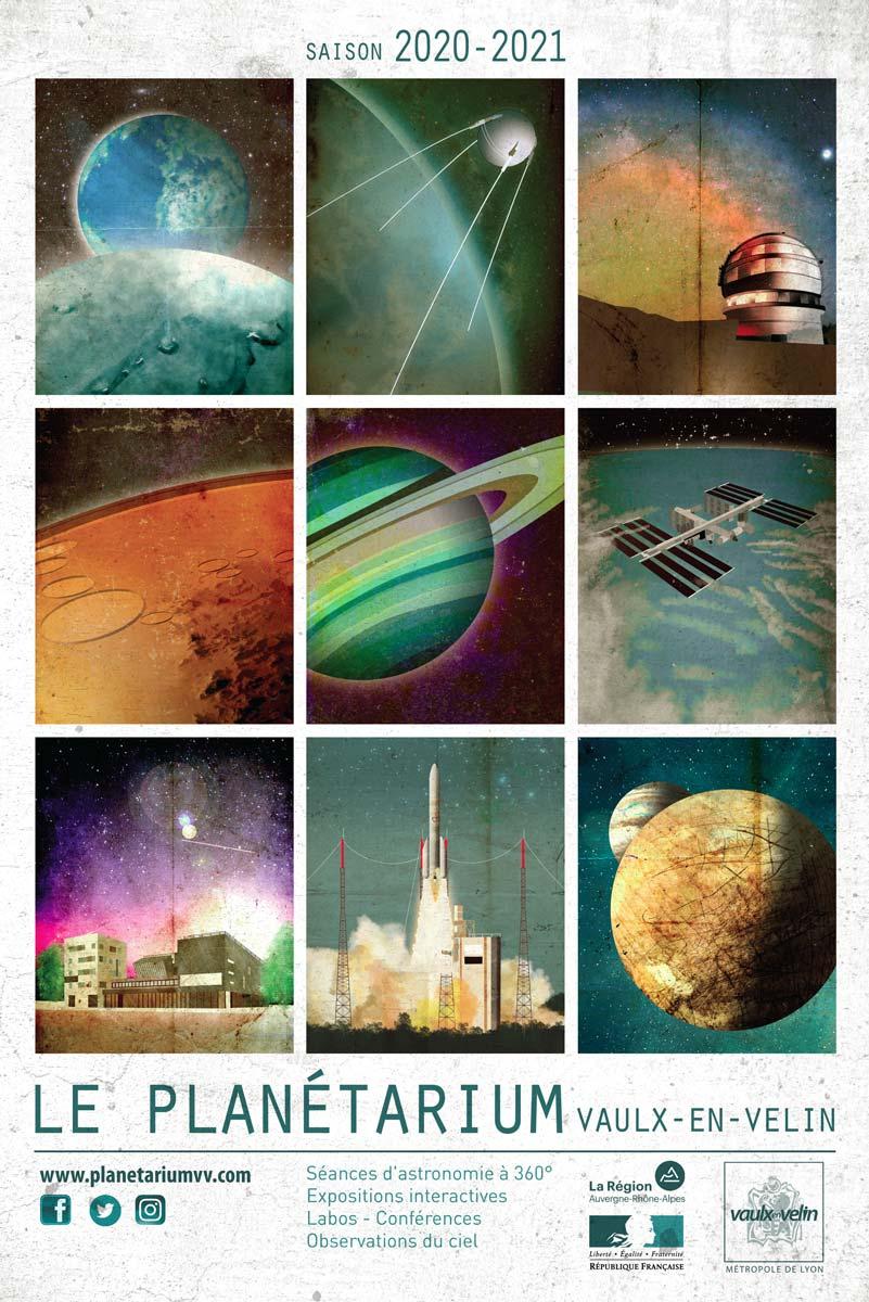 Affiche du Planétairum - saison 2020 2021