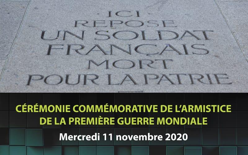 Cérémonie commémorative de l'armistice de la Première Guerre mondiale