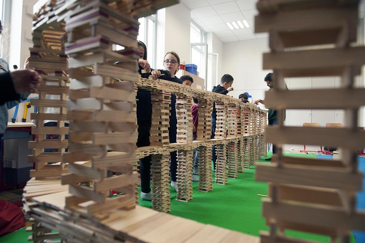 atelier de construction de maquettes en bois