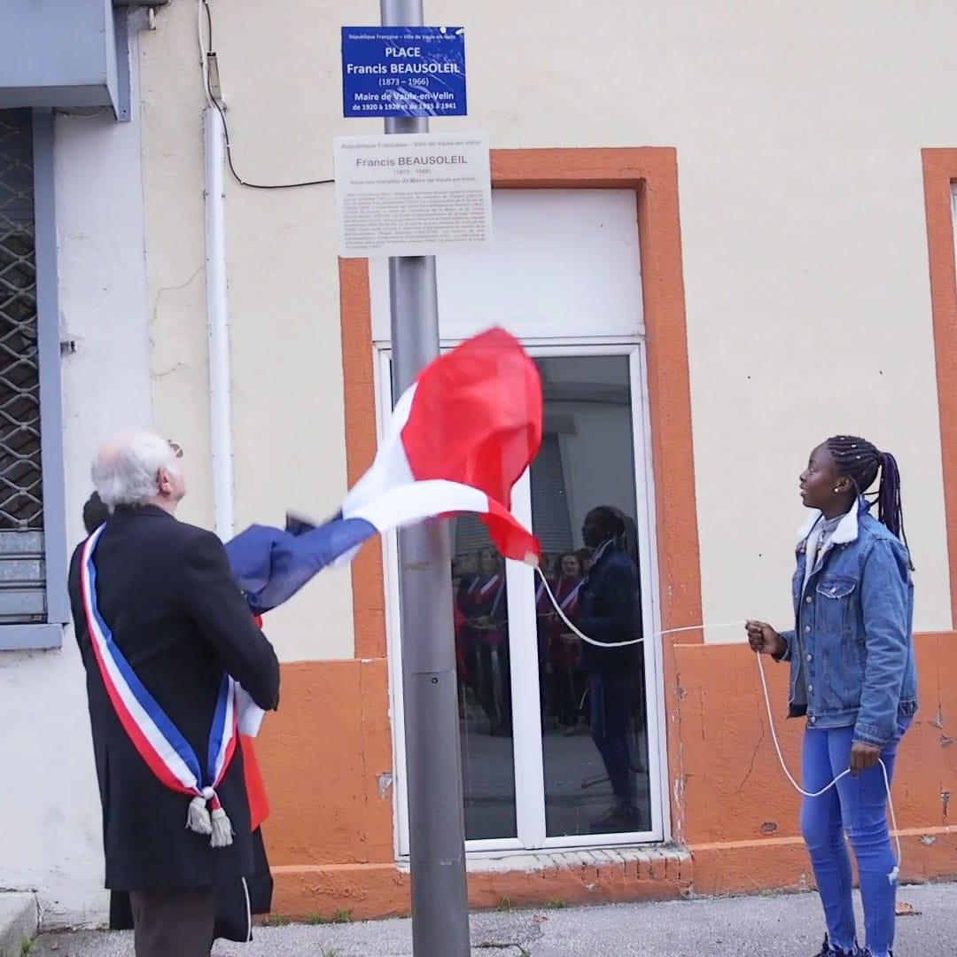 Inauguration de la Place Francis Beausoleil - Vaulx-en-Velin 2019