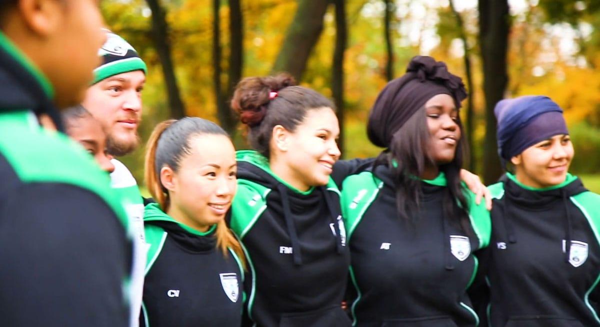 Les Lionnes du club de Rugby à 13 VVRL en 2019