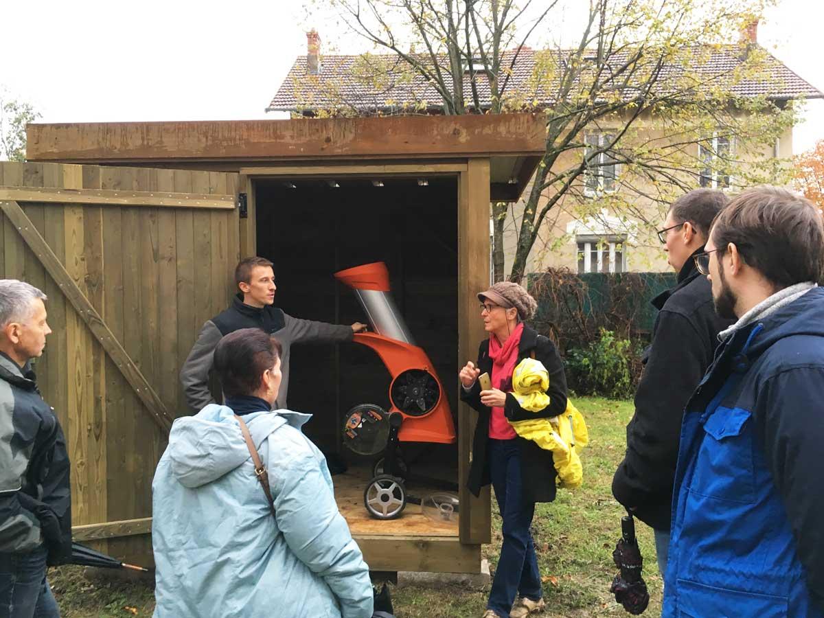 Lancement du broyeur composteur à la TASE - Semaine européenne de réduction des déchets - novembre 2019