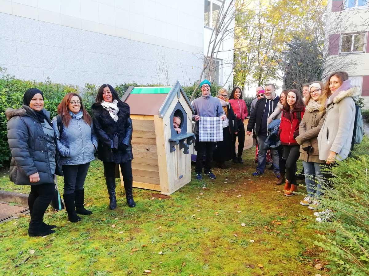 Tournée des boîtes à pain avec Emerjean - Semaine européenne de réduction des déchets - novembre 2019