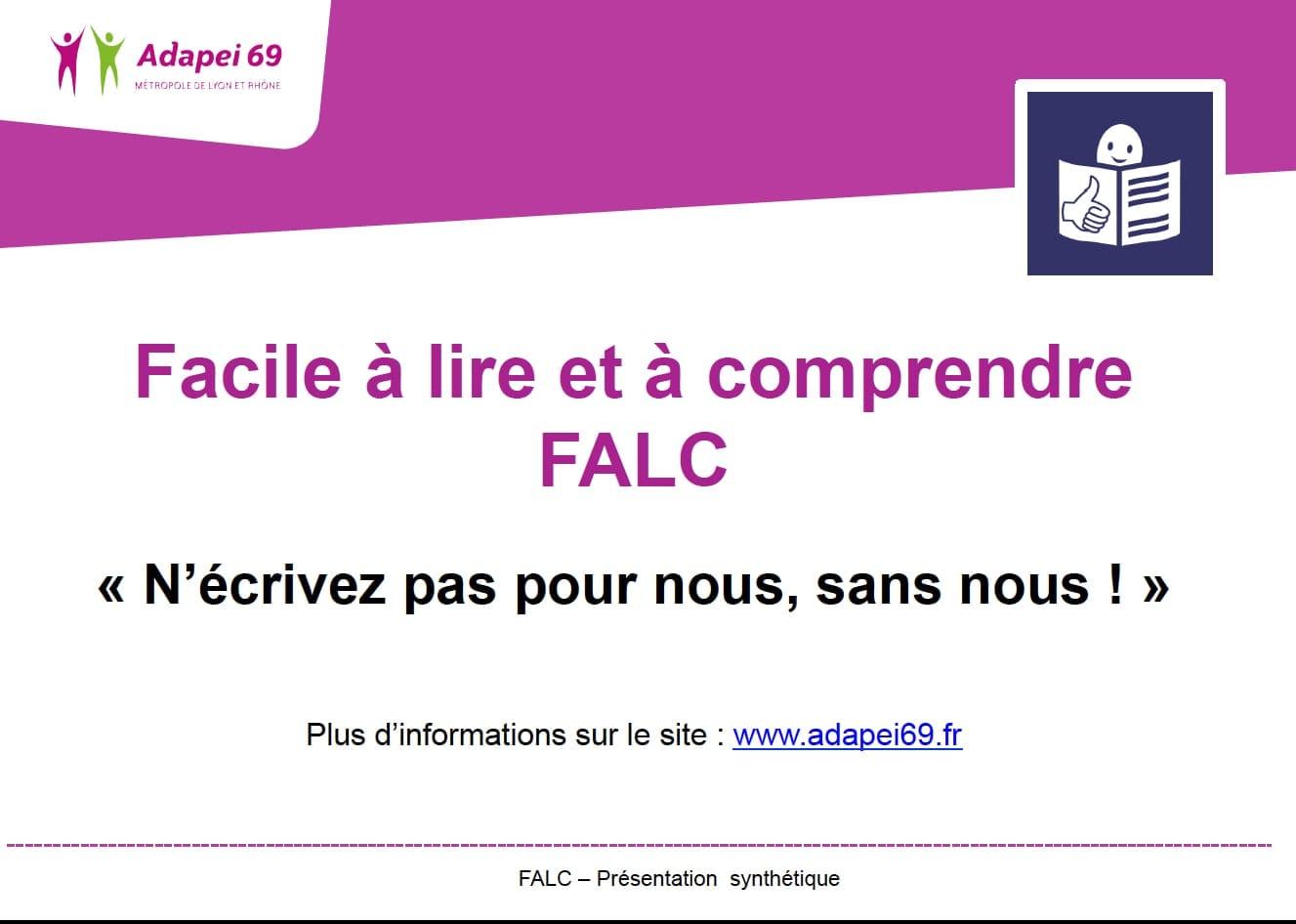 Présentation de la méthode FALC (Facile à Lire et à Comprendre)