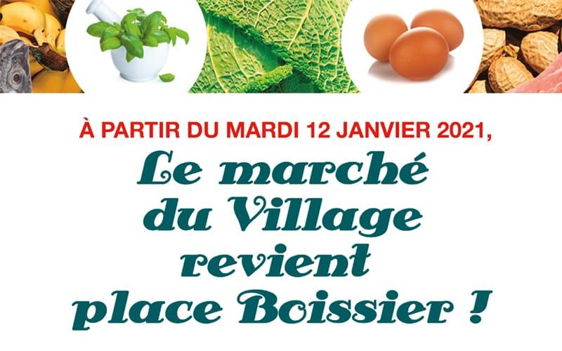 Le marché du Village fait son retour place Boissier !