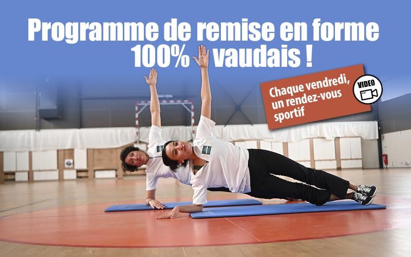 Sport : programme de remise en forme 100 % Vaudais