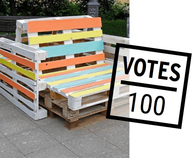 Forum Associatif Tous ensemble : illustration de banc réalisé avec des palettes de bois recyclées